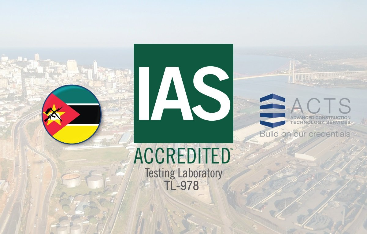 ACTS Mozambique branch has met the requirements of AC89, IAS Accreditation Criteria for Testing Laboratories TL-978