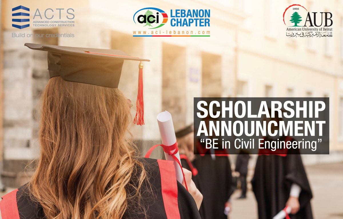 Scholarship Announcement - BE degree in Civil Engineering at the American University of Beirut